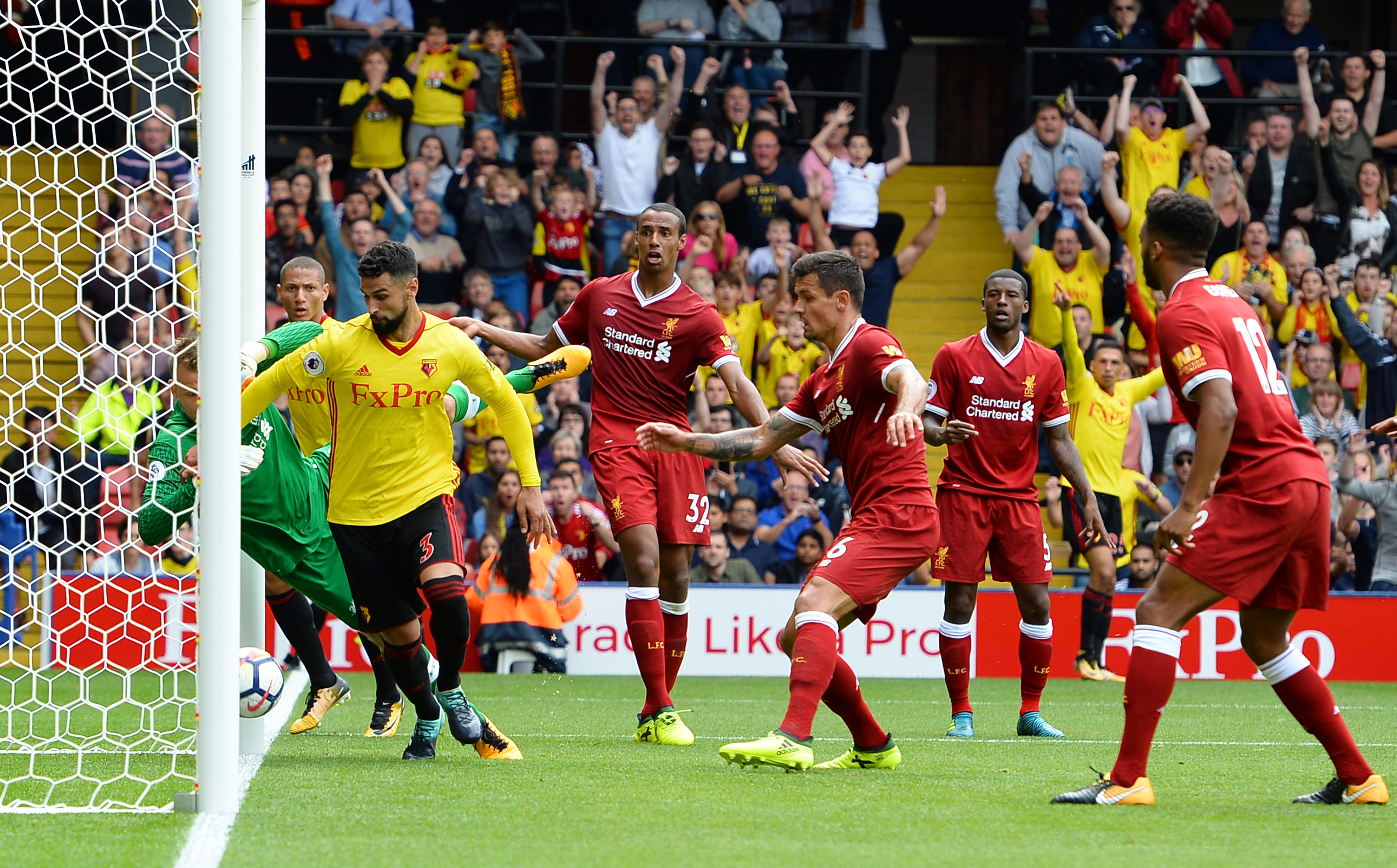 Liverpool draw 3-3 to Watford after conceding late goal screamer — BPL